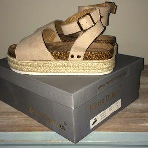 Pierre Dumas Mesa Platform Sandals